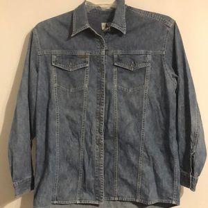 Calvin Klein Denim Long sleeve button up shirt